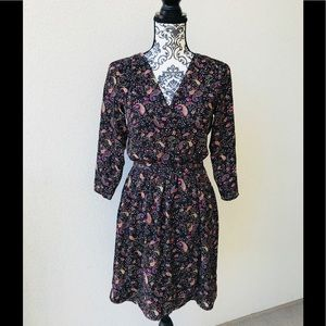 ⭐️ Collective concepts printed brown dress NWT S